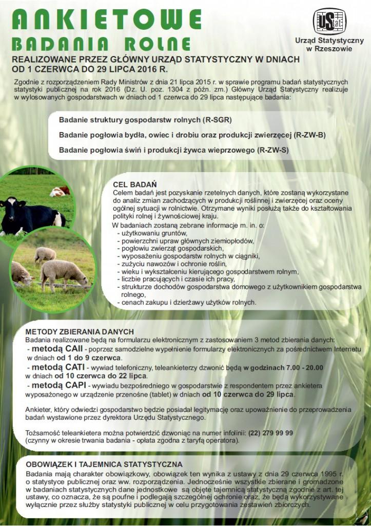badanie gospodarstw rolnych
